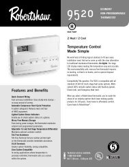 Humidification and Dehumidification Thermostat Features