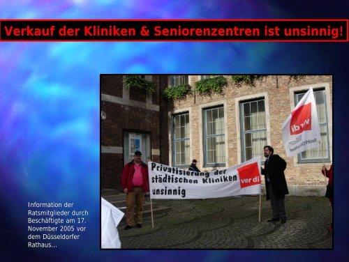 Verkauf der Kliniken & Seniorenzentren ist unsinnig! - Attac Düsseldorf