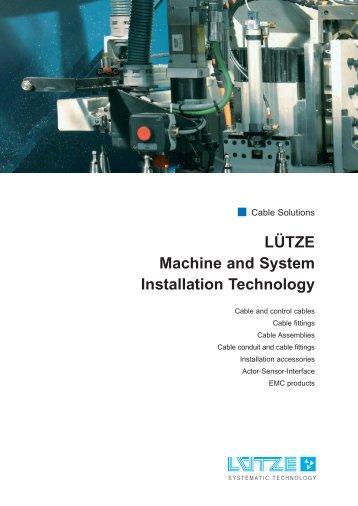 LÜTZE Machine and System Installation Technology - Luetze.com