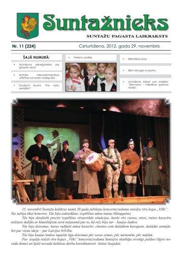 Nr. 11 (224) Ceturtdiena, 2012. gada 29. novembris - Ogres novads