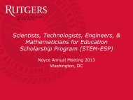Recruiting Engineering and Physics Students for Noyce Teacher ...