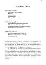 Méthodes en Génétique - Collège Francais de Génétique Médicale