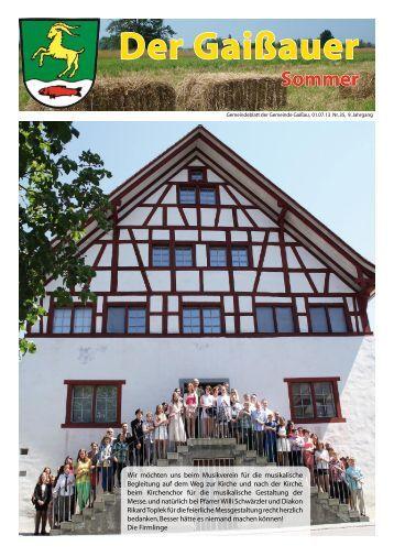 Ausgabe Nr. 35 am 01.07.2013 - Gaißau