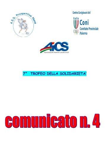 COMUNICATO 4 - PARROCCHIA S. GIROLAMO DOTTORE