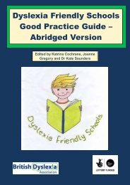 Dyslexia Friendly Schools Good Practice Guide – Abridged Version