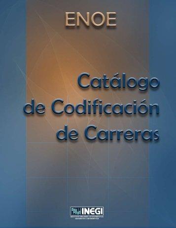 Catalogo de Codificación de Carreras - Inegi