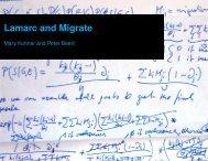 Lamarc and Migrate - Molecular Evolution