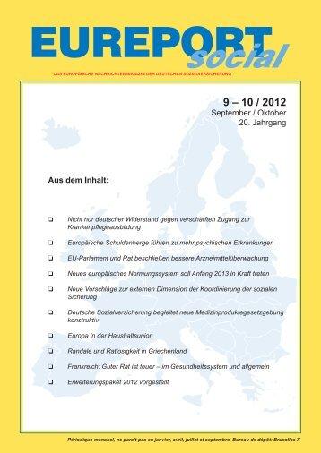 EUREPORTsocial, Ausgabe 9-10/2012 - Deutsche Sozialversicherung