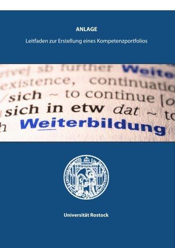 Leitfaden zur Erstellung eines Kompetenzportfolios 27.04.2009