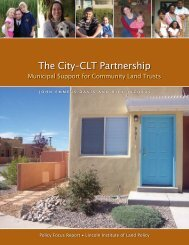 Lincoln Institute of Land Policy - City-CLT Partnership: Municipal ...