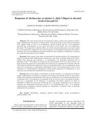 Responses of Abelmoschus esculentus L. (lady's finger) to elevated ...