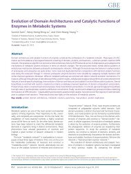 Evolution of Domain Architectures and Catalytic ... - Academia Sinica