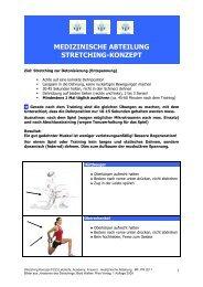 medizinische abteilung stretching-konzept