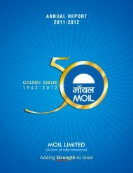 Annual Report 2011-12 (English) - Moil Limited