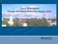 City of Wilmington Internal Energy and Waste Reduction Efforts