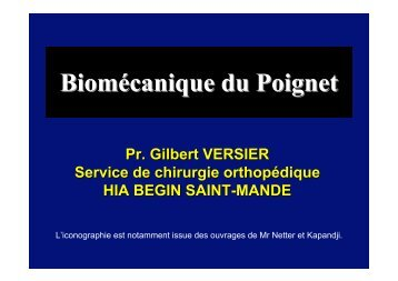 Biomécanique du Poignet - ClubOrtho.fr