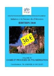 Untitled - Groupe Français d études et d applications des Polymères