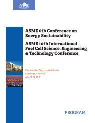 ASME 6th Conference on Energy Sustainability ASME 10th - Events