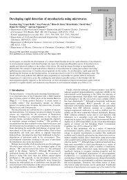 Developing rapid detection of mycobacteria using microwaves