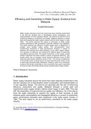 Efficiency and Ownership in Water Supply: Evidence from Malaysia