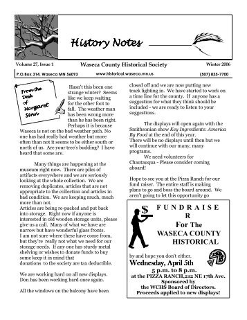 Winter - Waseca County Historical Society