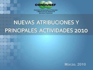 actividades preventivas 2010 - Condusef