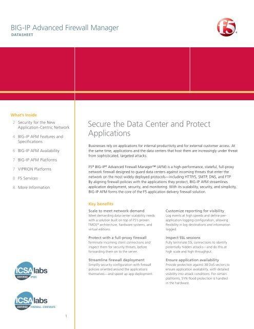 BIG-IP Advanced Firewall Manager | F5 Datasheet
