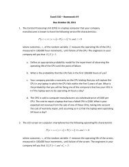 EconS 510 – Homework # 9 Due October 28, 2011 1. The Central ...