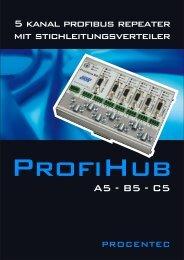 ProfiHub A5 - B5 - C5 - Profibus Repeater - PROCENTEC