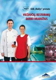 Viešbučių, restoranų darbo drabužių katalogas - Wallys.lt
