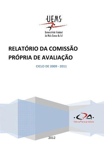 relatório da comissão própria de avaliação - Universidade Estadual ...