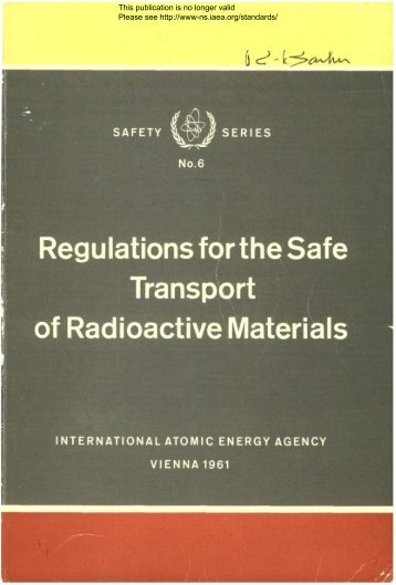 Safety_Series_006_1961 - gnssn - International Atomic Energy ...