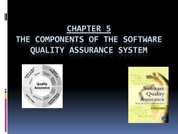 Components of SQA 1 - MetaLab