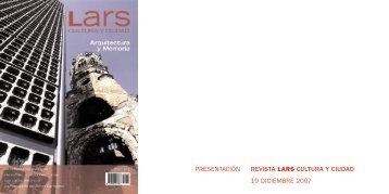 presentación revista lars cultura y ciudad 19 diciembre 2007