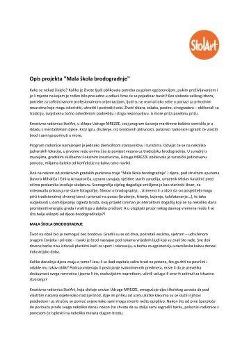 Opis projekta ''Mala škola brodogradnje'' - Korcula.NET