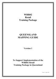 WRR02 Retail Mapping guide - Training Queensland - Queensland ...
