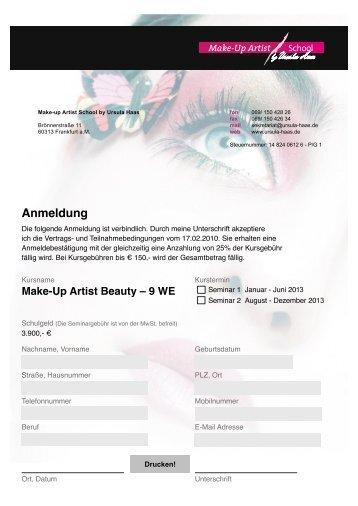 9 WE - Make-up Artist School by Ursula Haas