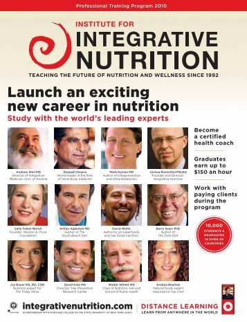 Launch an exciting new career in nutrition - Institute for Integrative ...
