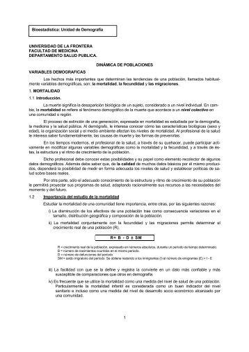 1 UNIVERSIDAD DE LA FRONTERA FACULTAD DE ... - Med.ufro.cl