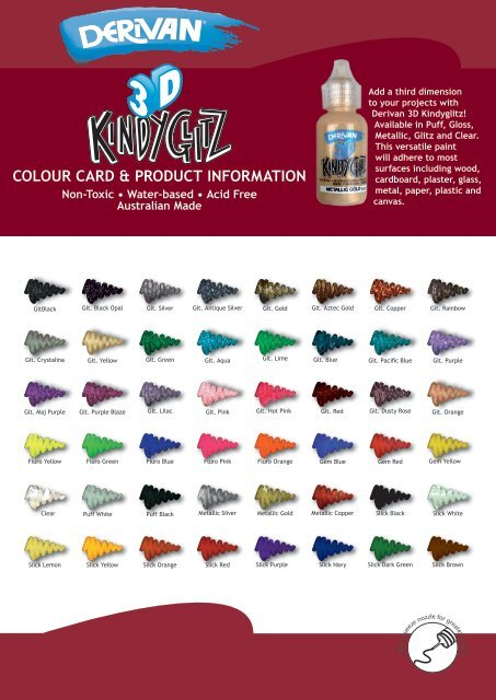 See The Colour Chart Here Premier Art Supplies