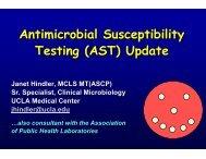 (AST) Update by Janet Hindler, MCLS MT(ASCP) - SWACM