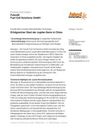 Innovative BZ-Systeme für China - FutureE