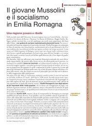 Il giovane Mussolini e il socialismo in Emilia Romagna - Sei