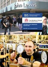 The employee ownership advantage: benefits and ... - Gov.uk