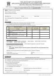 Application Form - Law Society of Singapore