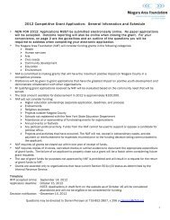 2012 Competitive Grant Application: General Information and ...