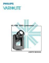 VL1100 ERS Luminaires User's Guide - Vari-Lite
