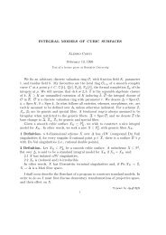 INTEGRAL MODELS OF CUBIC SURFACES Alessio Corti February ...