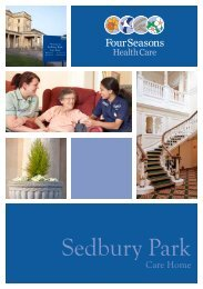 Sedbury Park Brochure - Four Seasons Health Care