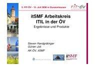 Ergebnisse und Produkte aus dem Arbeitskreis ITIL in der ÖV - FIT-öV